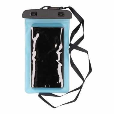 2x waterdicht telefoonhoesje voor alle telefoons blauw