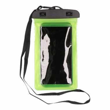 2xwaterdicht telefoonhoesje voor alle telefoons groen