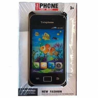 Speelgoed smartphone zwart