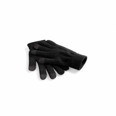 Touchscreen heren handschoenen zwart