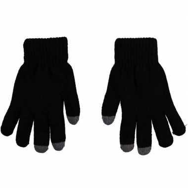 Touchscreen thermo handschoenen zwart voor dames