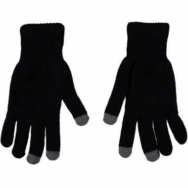Touchscreen thermo handschoenen zwart voor heren